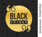 abstract vector black friday... | Shutterstock .eps vector #521645563