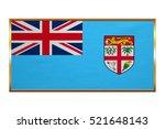 fijian national official flag....   Shutterstock . vector #521648143