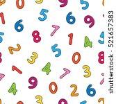 cartoon numbers. vector... | Shutterstock .eps vector #521657383