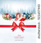 holiday christmas background... | Shutterstock .eps vector #521657443