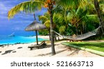 relaxing tropical holidays with ... | Shutterstock . vector #521663713