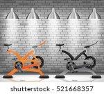 exercise bike with light...   Shutterstock .eps vector #521668357