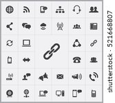 link icon. communication icons... | Shutterstock .eps vector #521668807