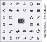 e mail icon. communication... | Shutterstock .eps vector #521668837