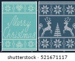 set of nordic patterns.... | Shutterstock .eps vector #521671117