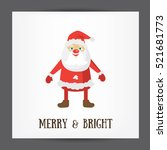merry and bright christmas post ... | Shutterstock .eps vector #521681773