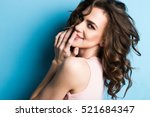 beauty fashion portrait.... | Shutterstock . vector #521684347