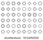 a huge rosette wicker border... | Shutterstock .eps vector #521690203
