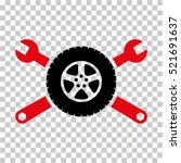 tire service wrenches icon.... | Shutterstock .eps vector #521691637