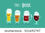 funny types of beer. vector... | Shutterstock .eps vector #521692747