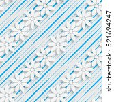 seamless flower and diagonal... | Shutterstock .eps vector #521694247