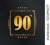 ninty anniversary celebration... | Shutterstock .eps vector #521694277