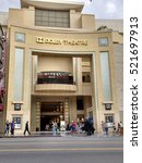 Small photo of LOS ANGELES, OCT 29TH, 2016: The Dolby Theatre (formerly Kodak Theatre) on the Hollywood Walk of Fame. The theater has hosted the annual Academy Awards ceremony since 2002.