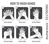 hand washing instruction. clean ... | Shutterstock .eps vector #521700583