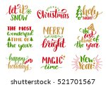 vector handwritten christmas... | Shutterstock .eps vector #521701567