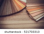 small color sample boards.... | Shutterstock . vector #521703313