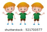 little boy in green shirt with...