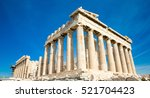 parthenon on the acropolis in... | Shutterstock . vector #521704423