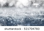 magic blue holiday abstract... | Shutterstock . vector #521704783