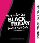 black friday sale banner | Shutterstock .eps vector #521709937