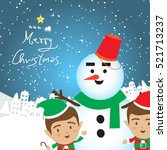 christmas concept elf and...   Shutterstock .eps vector #521713237