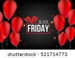 abstract vector black friday... | Shutterstock .eps vector #521714773