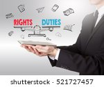 rights and duties balance ... | Shutterstock . vector #521727457
