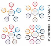 circle diagram with five  six ... | Shutterstock .eps vector #521732143