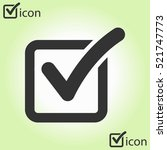 check list button icon. check... | Shutterstock .eps vector #521747773