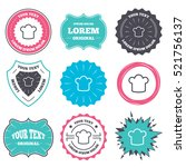 label and badge templates. chef ... | Shutterstock .eps vector #521756137
