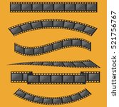 film strip frame set | Shutterstock .eps vector #521756767