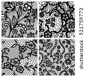 black lace seamless patterns...