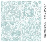 lace seamless patterns with... | Shutterstock .eps vector #521759797