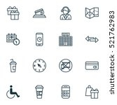 set of 16 travel icons. can be... | Shutterstock .eps vector #521762983