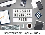 2017 to 2018 business plan on... | Shutterstock .eps vector #521764057