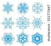 snowflake winter xmas nature... | Shutterstock .eps vector #521772667
