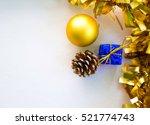 Christmas Ornament On White...