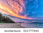 Cloudy Sunset Scene On A...