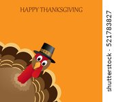 happy thanksgiving celebration... | Shutterstock . vector #521783827