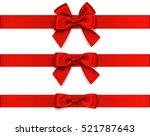 decorative red bow with... | Shutterstock .eps vector #521787643