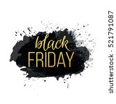 black friday sale abstract... | Shutterstock .eps vector #521791087