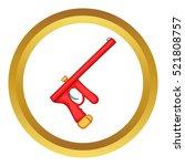 red paintball gun vector icon... | Shutterstock .eps vector #521808757