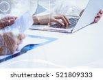 double exposure of businessman...   Shutterstock . vector #521809333