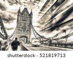 blurred traffic under tower... | Shutterstock . vector #521819713