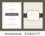 christmas greeting card or... | Shutterstock .eps vector #521821177