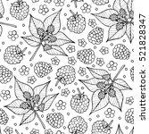 vector doodle floral pattern.... | Shutterstock .eps vector #521828347