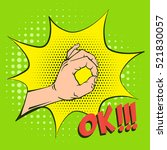 ok hand gesture  signifying...   Shutterstock .eps vector #521830057