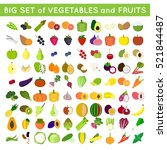 set of vector fruits and... | Shutterstock .eps vector #521844487