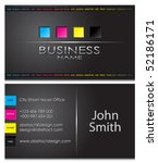 business card 43 | Shutterstock .eps vector #52186171