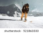 skier going downhill | Shutterstock . vector #521863333